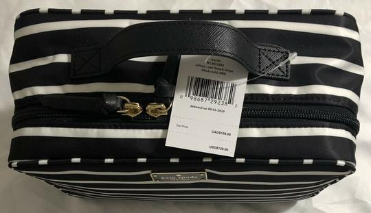 Kate Spade Wilson Road Martie French Stripe Makeup Cosmetic Toiletries Travel Bag Image 7