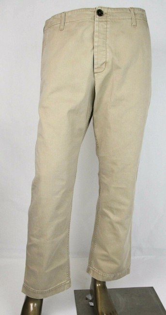 Item - Light Brown W Washed Cotton Pant W/ Print On Back Us 32 489281 2028 Groomsman Gift