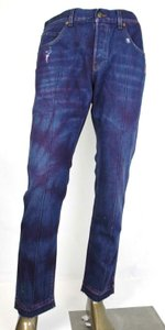 Gucci Dark Blue/Pink W Light Brown Washed Cotton Pant W/Gucci Print On Back Us 36 489281 2028 Groomsman Gift