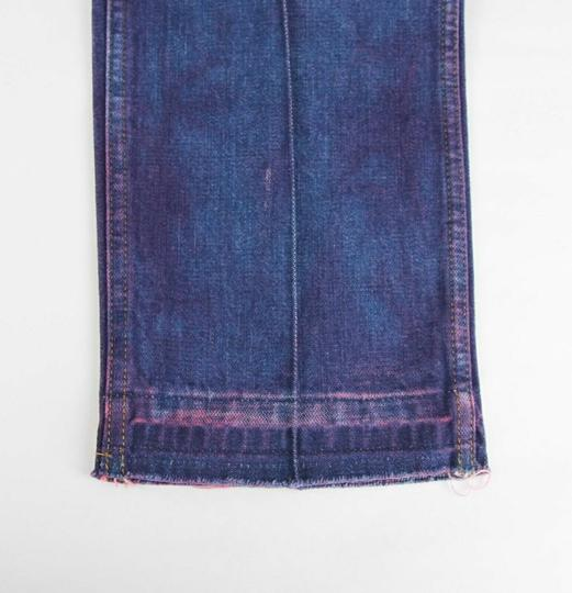 Gucci Dark Blue/Pink W Light Brown Washed Cotton Pant W/Gucci Print On Back Us 32 489281 2028 Groomsman Gift Image 10