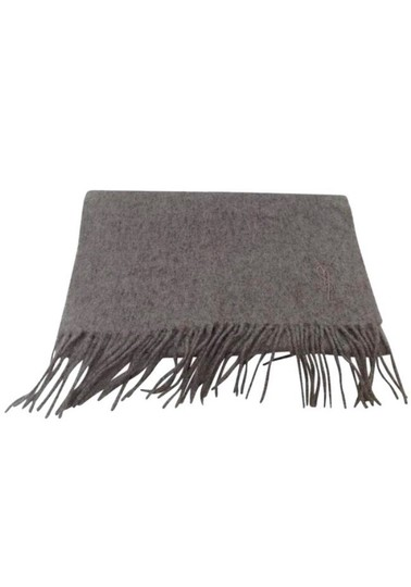Saint Laurent Yves Saint Laurent Embroidered Log 100% Wool Scarf Image 1