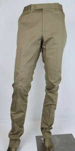 Gucci Khaki Cotton Stretch Gabardine Formal Narrow Pant Eu 52/Us 36 451107 2840 Groomsman Gift