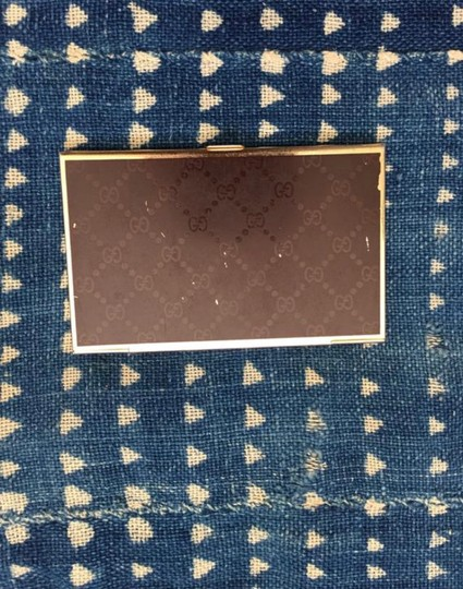 Gucci Vintage 80's GUCCI GG Monogram Supreme Brown Business Card Case Metal Hardcase Tin Image 4
