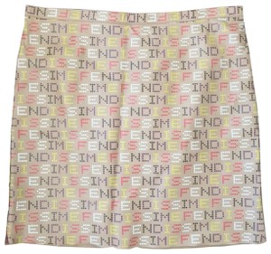 Fendi Mini Skirt pink white purple