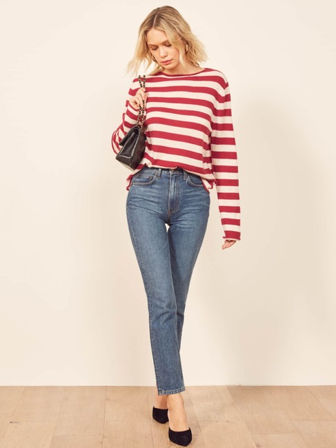 Reformation Cashmere Cozy Striped Sweater Image 3