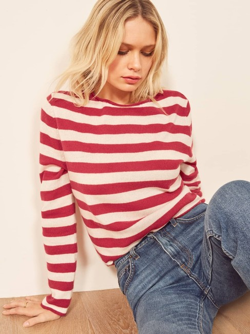 Reformation Cashmere Cozy Striped Sweater Image 4