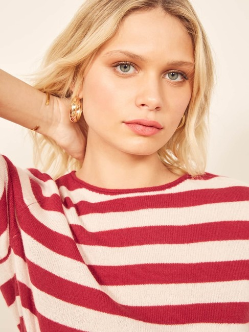 Reformation Cashmere Cozy Striped Sweater Image 5