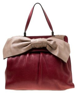 Valentino Leather Satchel in Red