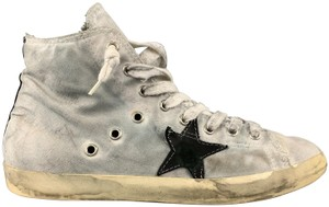 Golden Goose Deluxe Brand Distressed Worn Effect Vintage Effect Dyed High Tops Gray Athletic