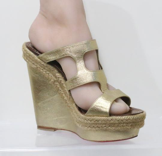 Christian Louboutin Gold Wedges Image 3