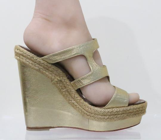 Christian Louboutin Gold Wedges Image 4