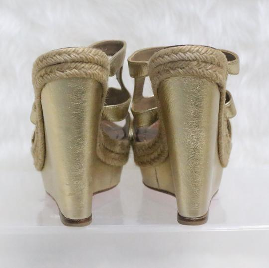 Christian Louboutin Gold Wedges Image 6