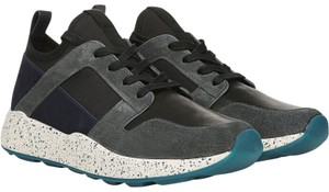 Vince Sneaker Boost Sock Leather Blue Athletic