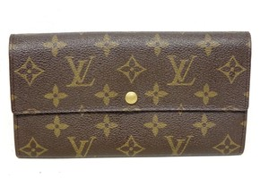 Louis Vuitton Excellent Monogram Leather Bifold Snap Purse Coin Long Wallet