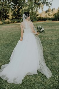 BHLDN White Long Triolet Cathedral Bridal Veil