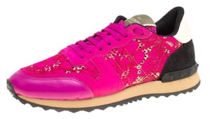Valentino Leather Lace Pink Athletic
