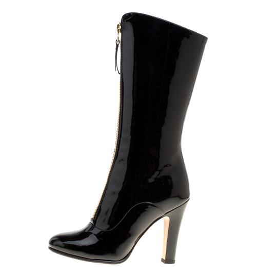 Valentino Patent Leather Detail Black Boots Image 1