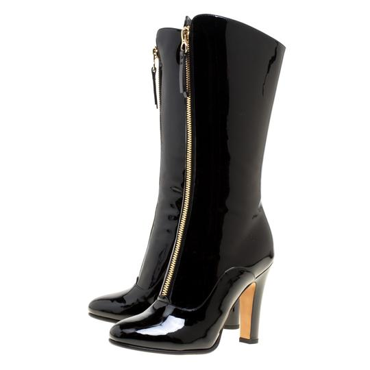 Valentino Patent Leather Detail Black Boots Image 3