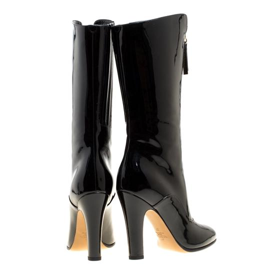 Valentino Patent Leather Detail Black Boots Image 4