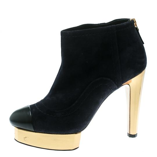 Chanel Suede Leather Blue Boots Image 1