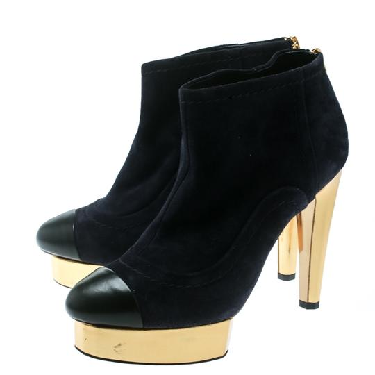 Chanel Suede Leather Blue Boots Image 3