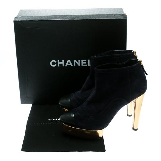 Chanel Suede Leather Blue Boots Image 7