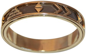 House of Harlow 1960 HOUSE OF HARLOW 1960 Aztec Khaki/Brown Leather 14Kt Gold Plated Bangle