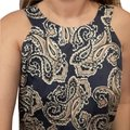 Ann Taylor LOFT short dress Medium Dark Blue, Gold, and White on Tradesy