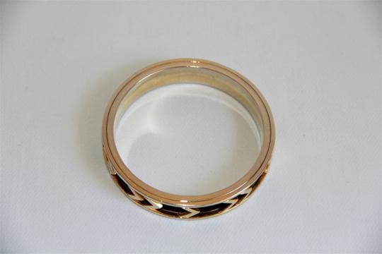 House of Harlow 1960 HOUSE OF HARLOW 1960 Aztec Black Leather and 14kt Gold Plated Bangle Image 1