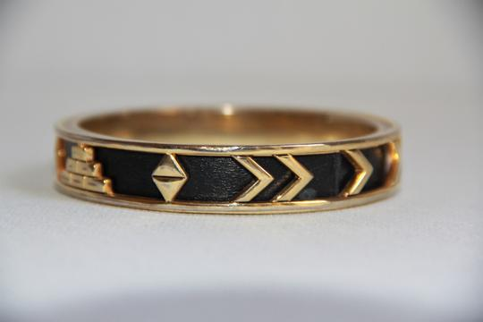 House of Harlow 1960 HOUSE OF HARLOW 1960 Aztec Black Leather and 14kt Gold Plated Bangle Image 5