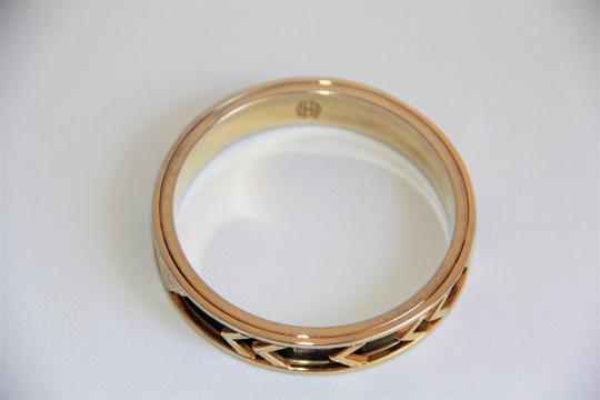 House of Harlow 1960 HOUSE OF HARLOW 1960 Aztec Black Leather and 14kt Gold Plated Bangle Image 6