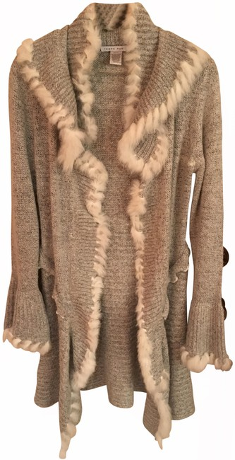 Tempo Paris Fur Knit Cashmere Sweater Outerwear Cardigan Image 0