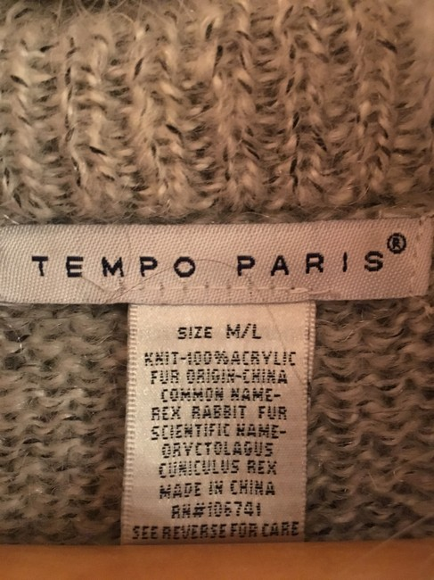 Tempo Paris Fur Knit Cashmere Sweater Outerwear Cardigan Image 5