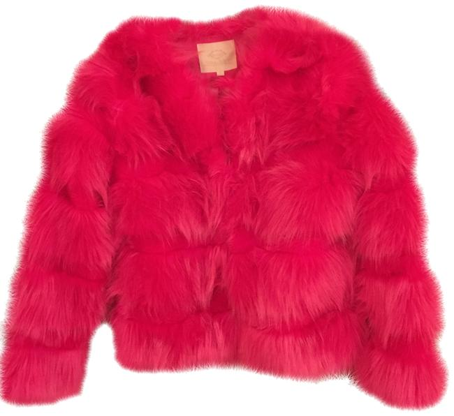 Vera & Lucy Faux Warm Long Sleeve Hot Fuzzy Fur Coat Image 0