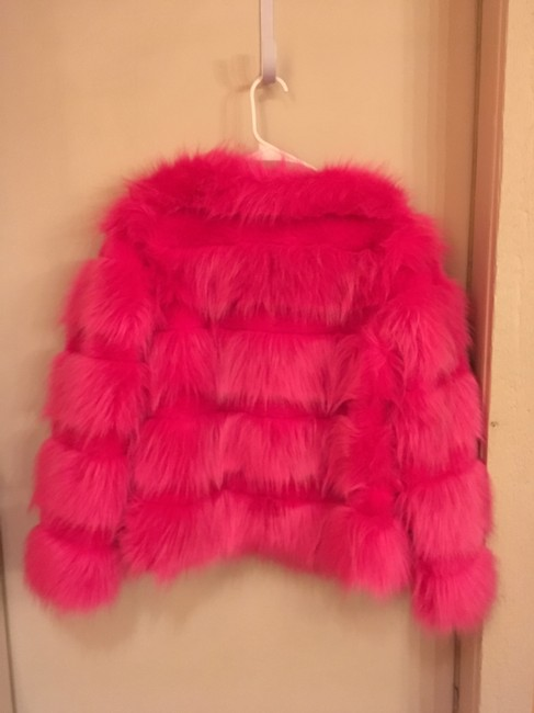 Vera & Lucy Faux Warm Long Sleeve Hot Fuzzy Fur Coat Image 1