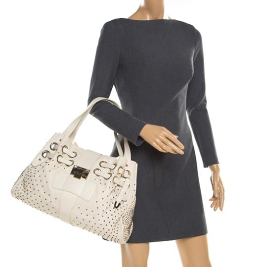 Jimmy Choo Leather Tote in Cream Image 2