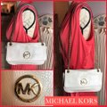 MICHAEL Michael Kors SLIGHTLY OFF WHITE/GOLD Messenger Bag Image 1