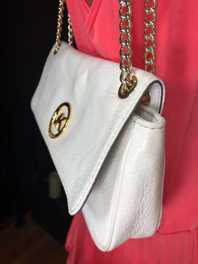 MICHAEL Michael Kors SLIGHTLY OFF WHITE/GOLD Messenger Bag Image 7