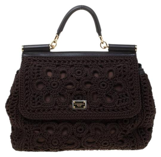 Preload https://img-static.tradesy.com/item/25932047/dolce-and-gabbana-top-handle-crochet-large-miss-sicily-brown-fabric-and-leather-shoulder-bag-0-1-540-540.jpg