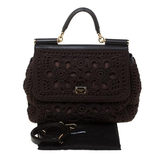 Dolce&Gabbana Leather Crochet Shoulder Bag Image 10