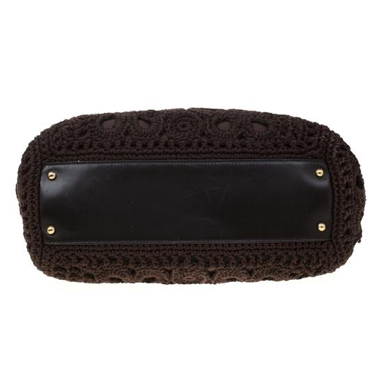 Dolce&Gabbana Leather Crochet Shoulder Bag Image 4