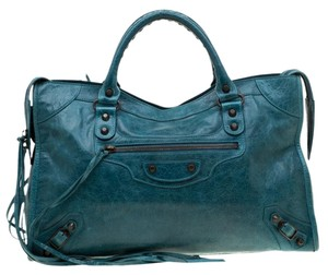 Balenciaga Leather Tote in Blue