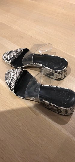 Vince Camuto clear, black and white Sandals Image 1
