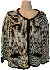 Brooks Brothers Cotton Jacket Checked Sweater Jacket black, blue and white Blazer