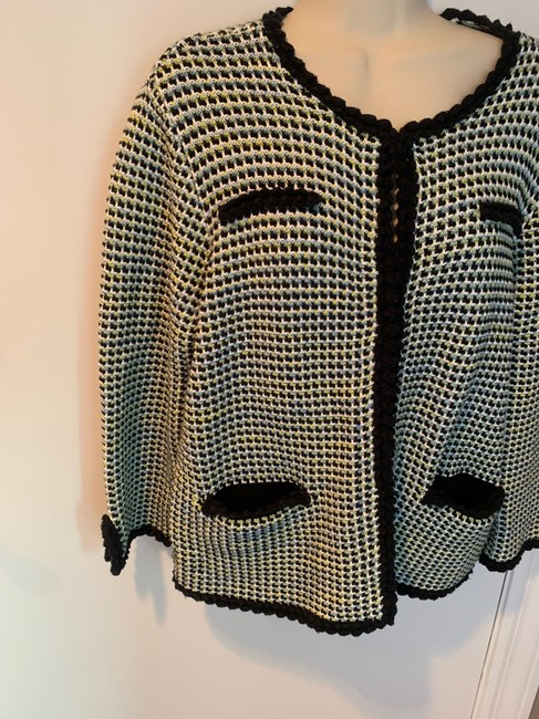 Brooks Brothers Cotton Jacket Checked Sweater Jacket black, blue and white Blazer Image 3