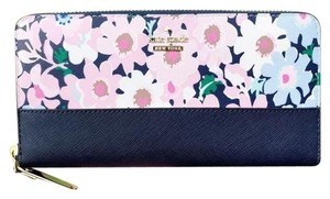 Kate Spade Kate Spade Cameron Street Lacey Large Zip Around Wallet Floral Multi