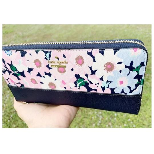 Kate Spade Kate Spade Cameron Street Lacey Large Zip Around Wallet Floral Multi Image 2