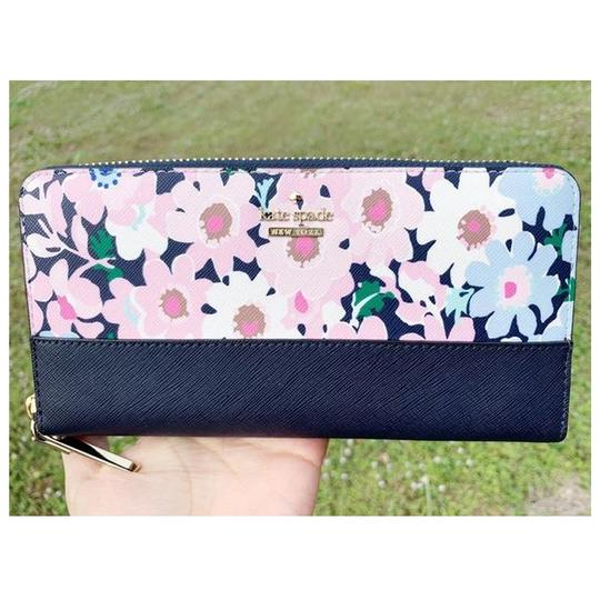 Kate Spade Kate Spade Cameron Street Lacey Large Zip Around Wallet Floral Multi Image 5