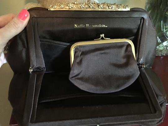 Nettie Rosenstein Brown Clutch Image 3