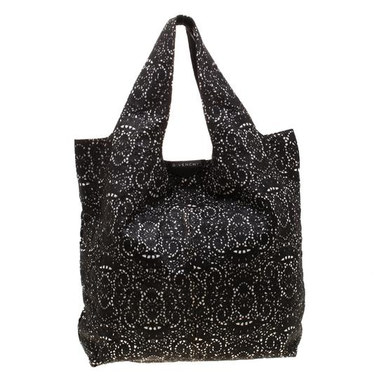Givenchy Leather Lace Tote in Black Image 3